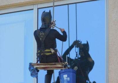 Batman Cleaning Windows