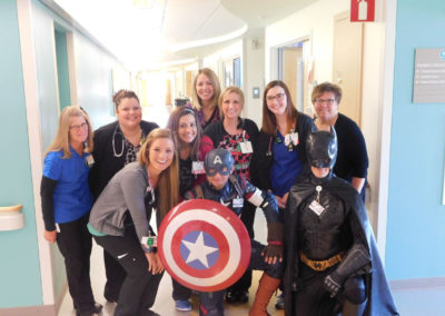 Super heros and hospital staff