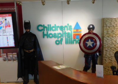 Super Heros Visit Childrens Hospital Of Illinois