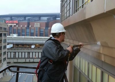 Downtown Indianapolis Building Washing
