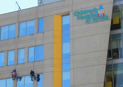 Window Cleaning at Illinois Childrens Hospital