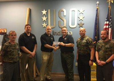 Representatives from our Indiana Office delivered a check for $2,500 from a fundraiser they did for Military Appreciation Month.