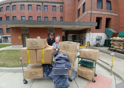 ANSI donates 300 pairs of sweatpants and 100 pairs of boxers to the Fort Thomas Domiciliary for Homeless Veterans